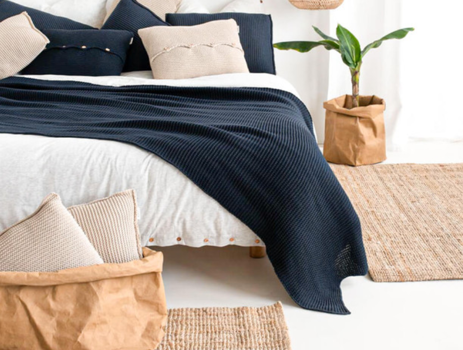 Lazy Bedspread/Blanket Navy