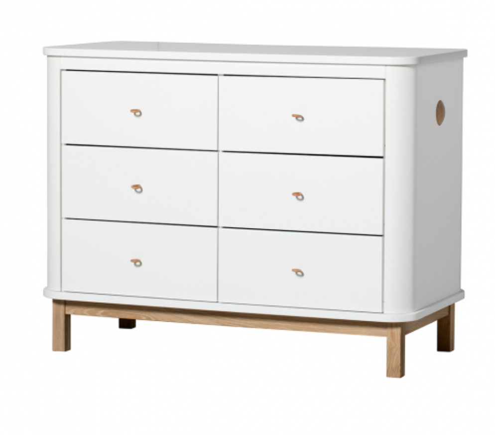 6 Drawers Wood White