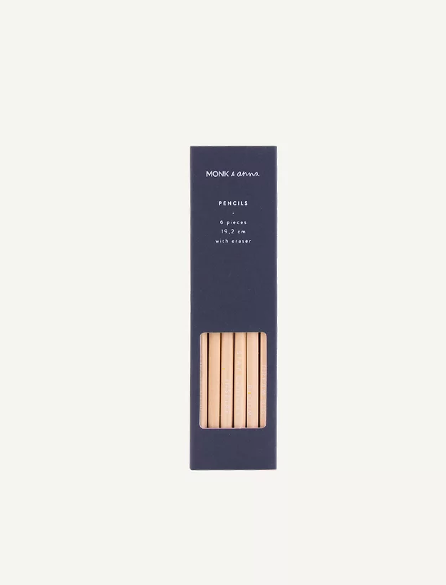 Set 6 Wooden Pencils (different colour boxes)
