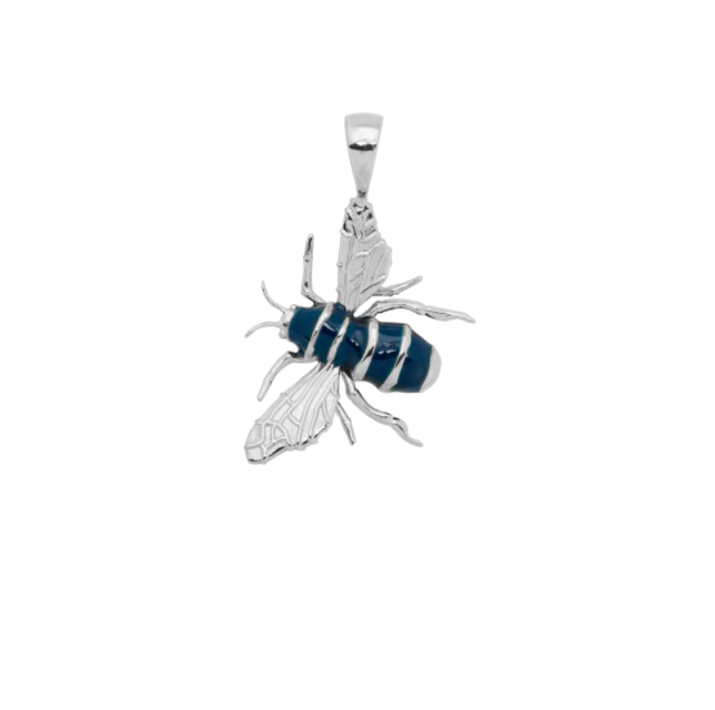 Honey Bee Charm Necklace Silver