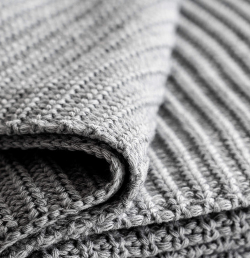 Soft Weave Blanket Grey