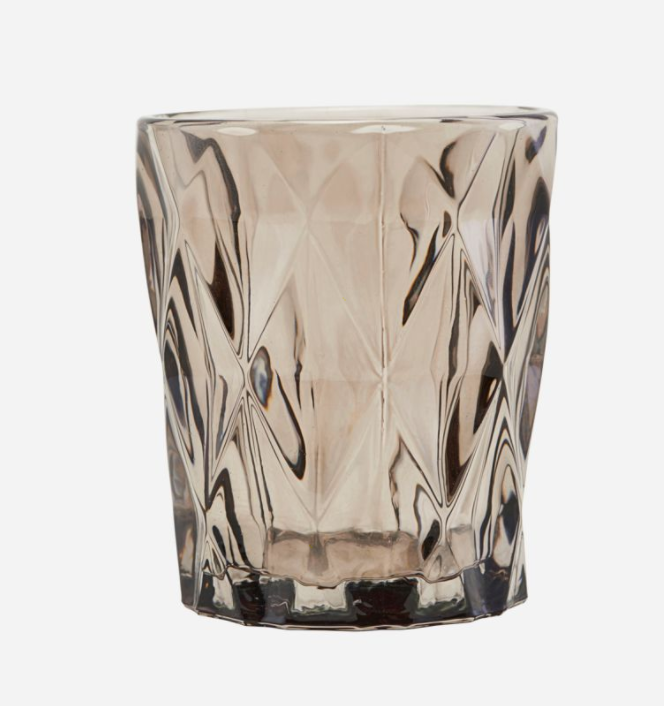 Brown Glass Tealight Candle Holder