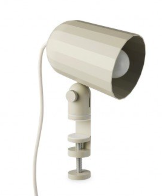 Clamp Light (Grey or Offwhite)