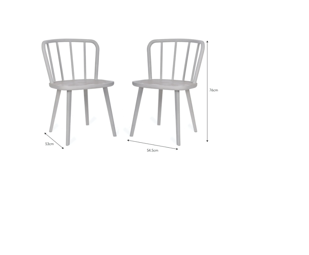 Wooden Dining Chairs (Natural, Carbon and White)