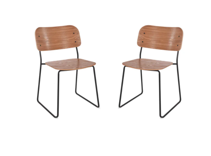 Retro Dining Chairs (White or Black Frame)