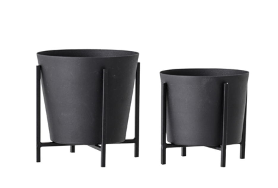 Black Plant Pot (2 sizes)