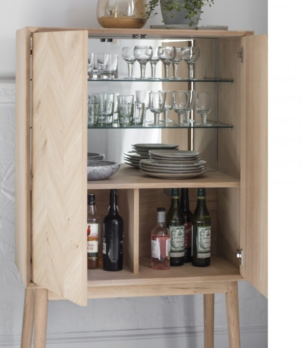 Chevron Cocktail Cabinet