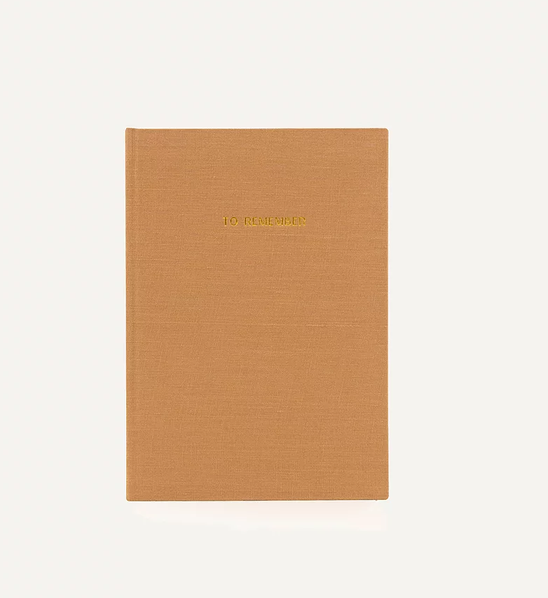 Notebook Washed Linen (Cashew)