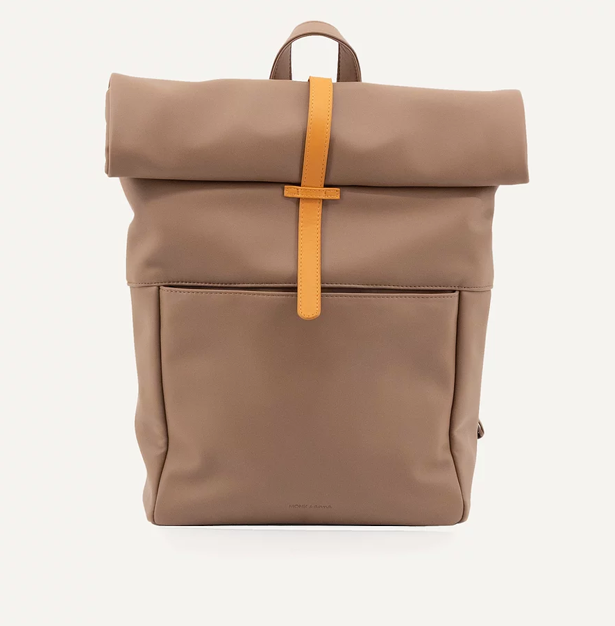 Vegan Leather Backpack (Cacao)