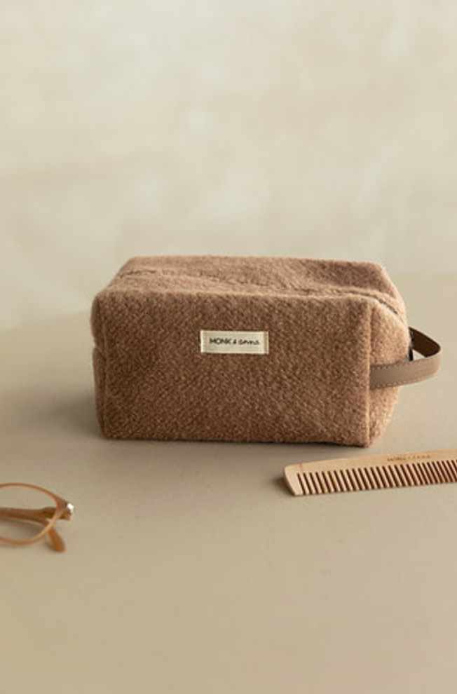 Toiletry Bag Wool (Cacao)