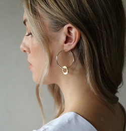 Beam Earrings Gold