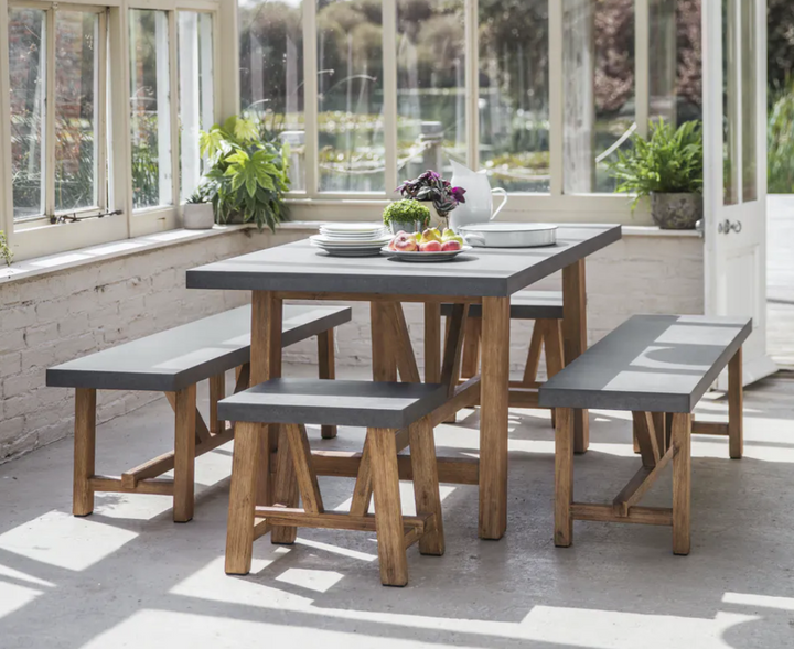 Chiltern Indoor / Outdoor Table and Bench Set (2 sizes)