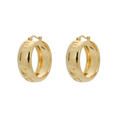 Gold-plated El Corazon Hoop Earrings