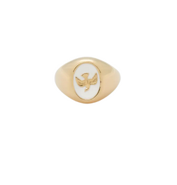 Gold Plated Lovebird Ring