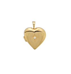 Heart Of Gold Necklace Charm