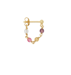 Single Confetti Chain Earring