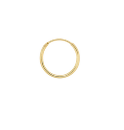 Gold-plated Single Ring Earring