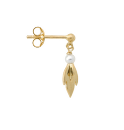 Single Comet Pearl Stud Earring