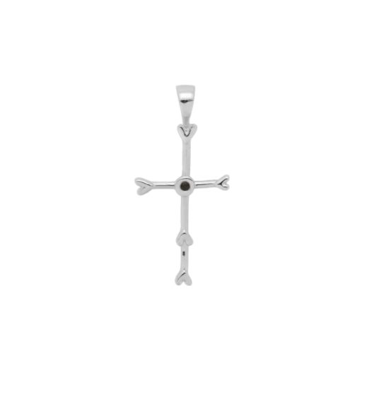 Silver Cross Necklace (charm and chain)