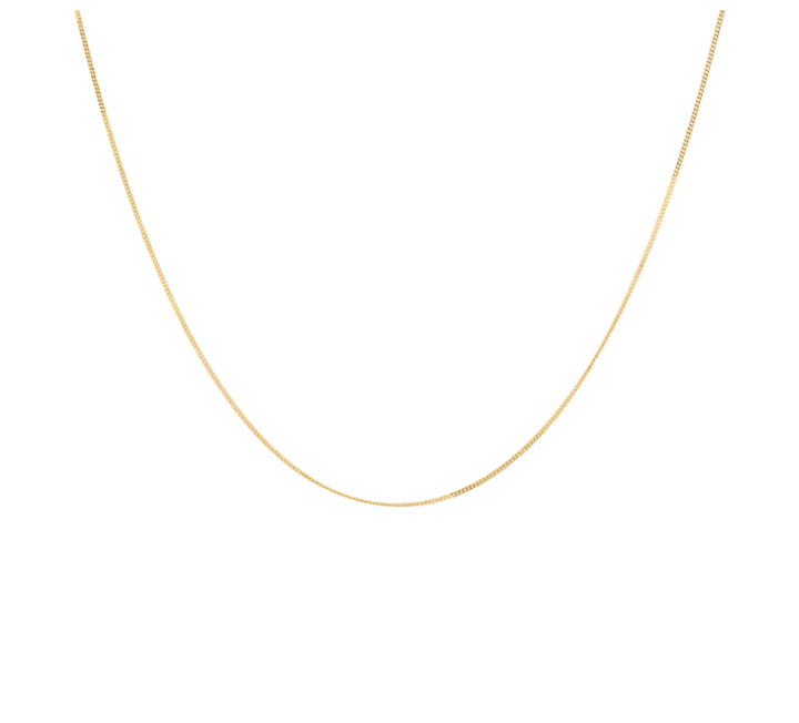 Gold Plain Necklace Short