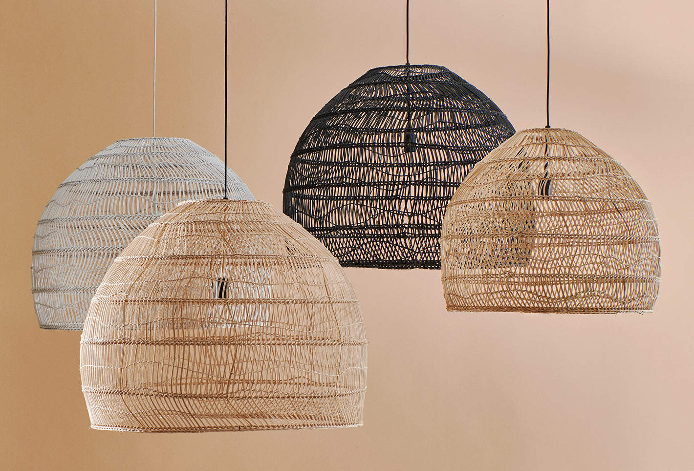 Wicker Light L (natural, black and white)