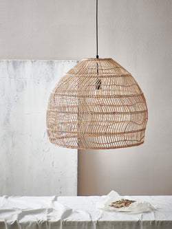 Wicker Light M (natural, black and white)