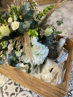 Hampers (flowers, fragrance and sweet treats)