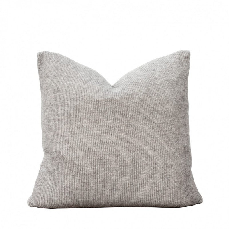 Knitted Grey Cushion