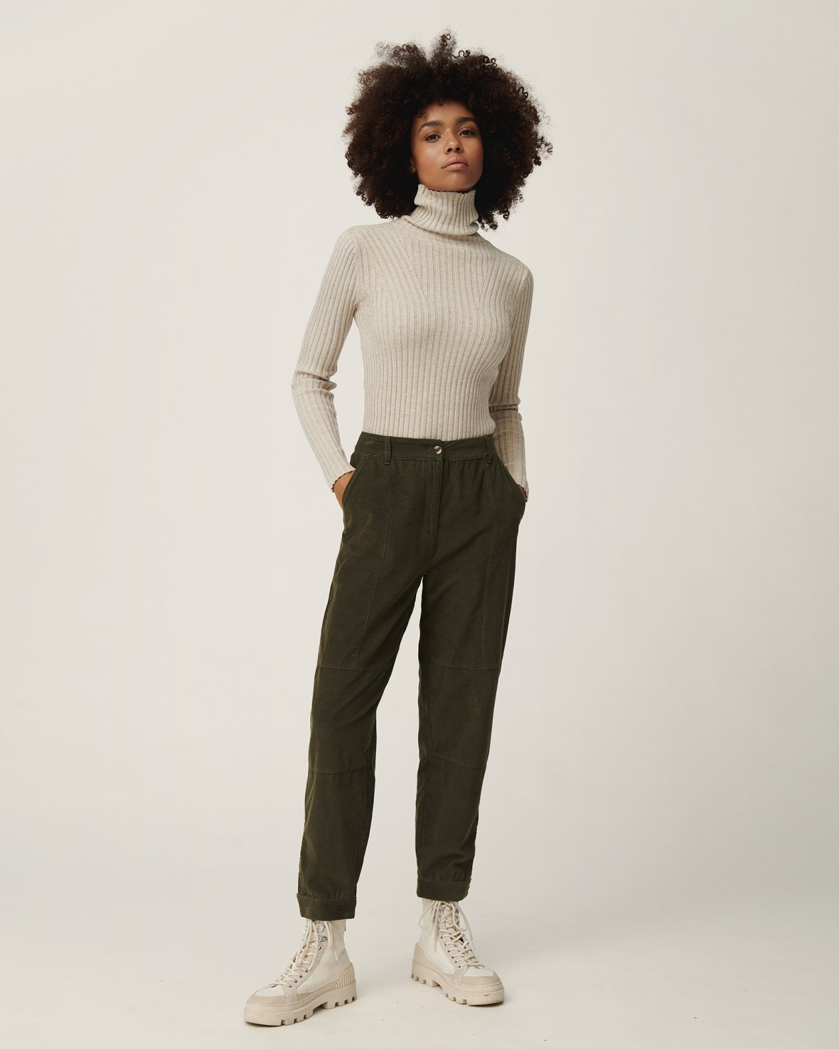 Erica Slim Roll Neck Top