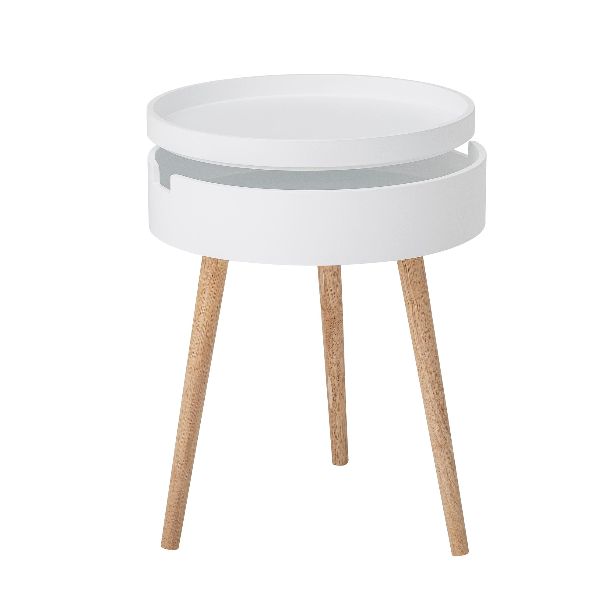 White Side Table/Coffee Table With Storage