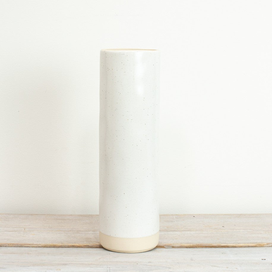 Tall Ceramic Vase White