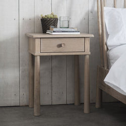 Bedside Table One Drawer Nordic Natural