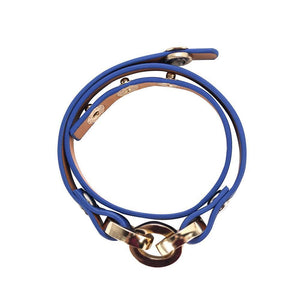 Latch Leather Bracelet - Royal Blue