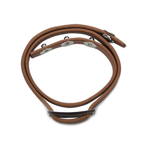 Cinch Leather Bracelet - Caramel