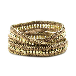 Double Looped Bling Bracelet- Gold