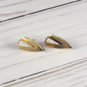 Chevron Earrings- Gold