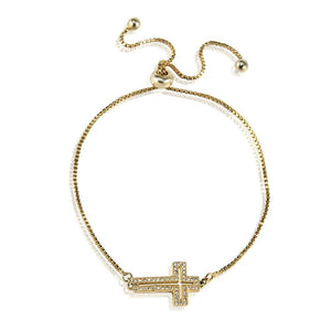 Cross Bracelet -Gold