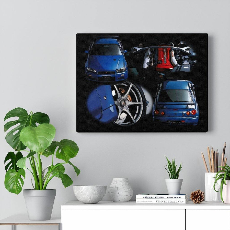 R34 GT-R Homage Canvas