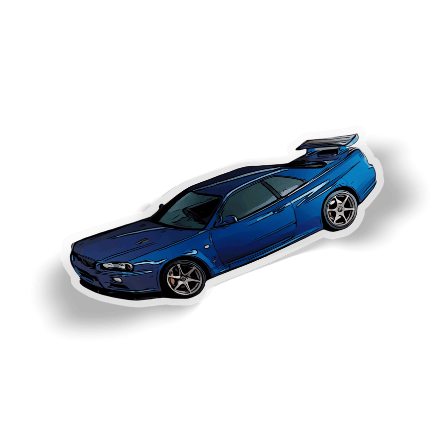 R34 Toonified Sticker- Side