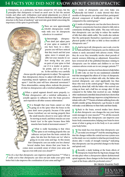 14 Facts Of Chiropractic Care Heidi Haavik