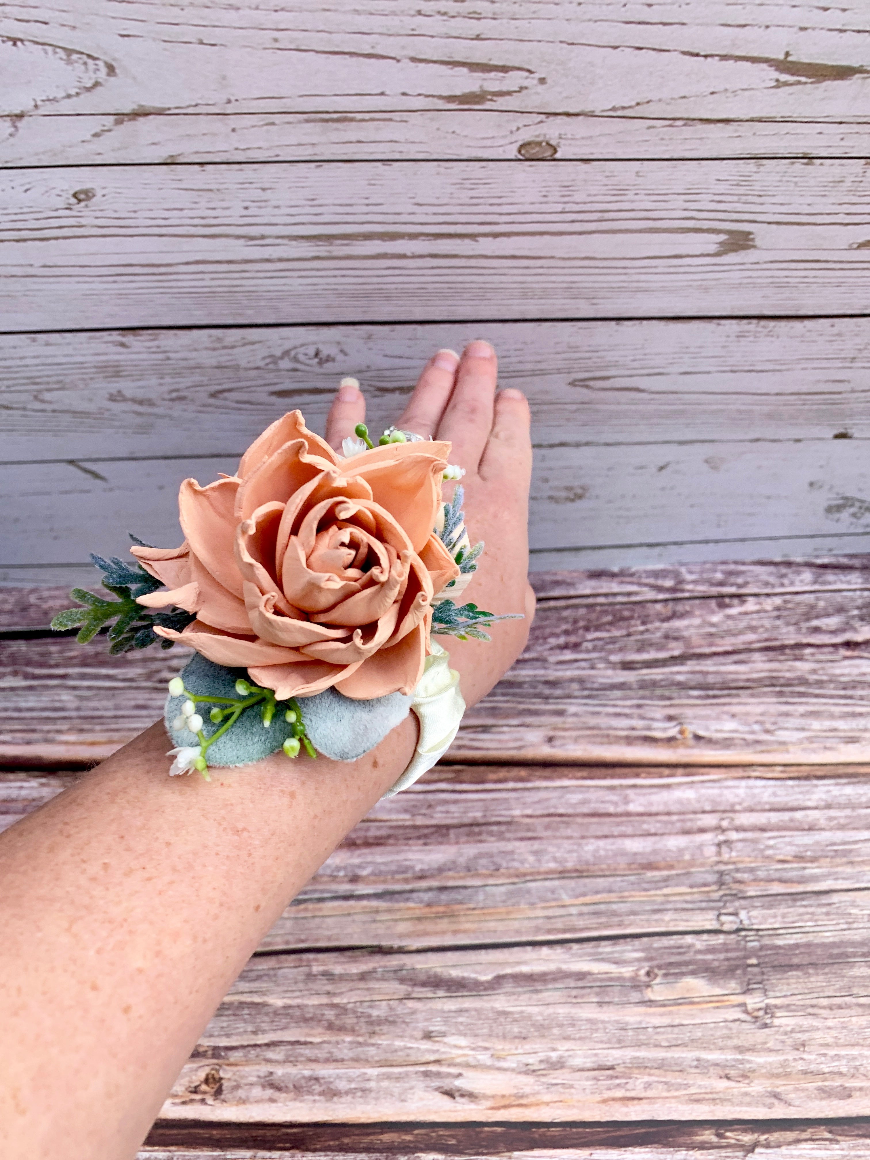 Sugar and Spice Rose Corsage