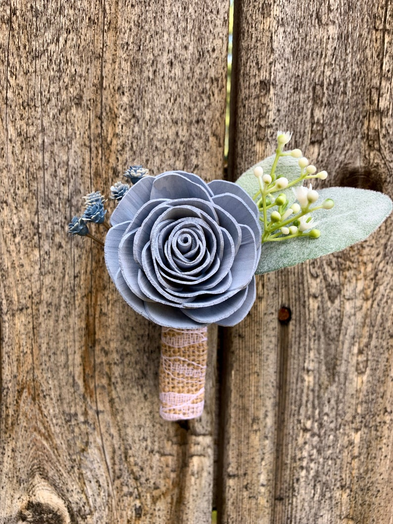 Rose and Baby's Breath Boutonniere