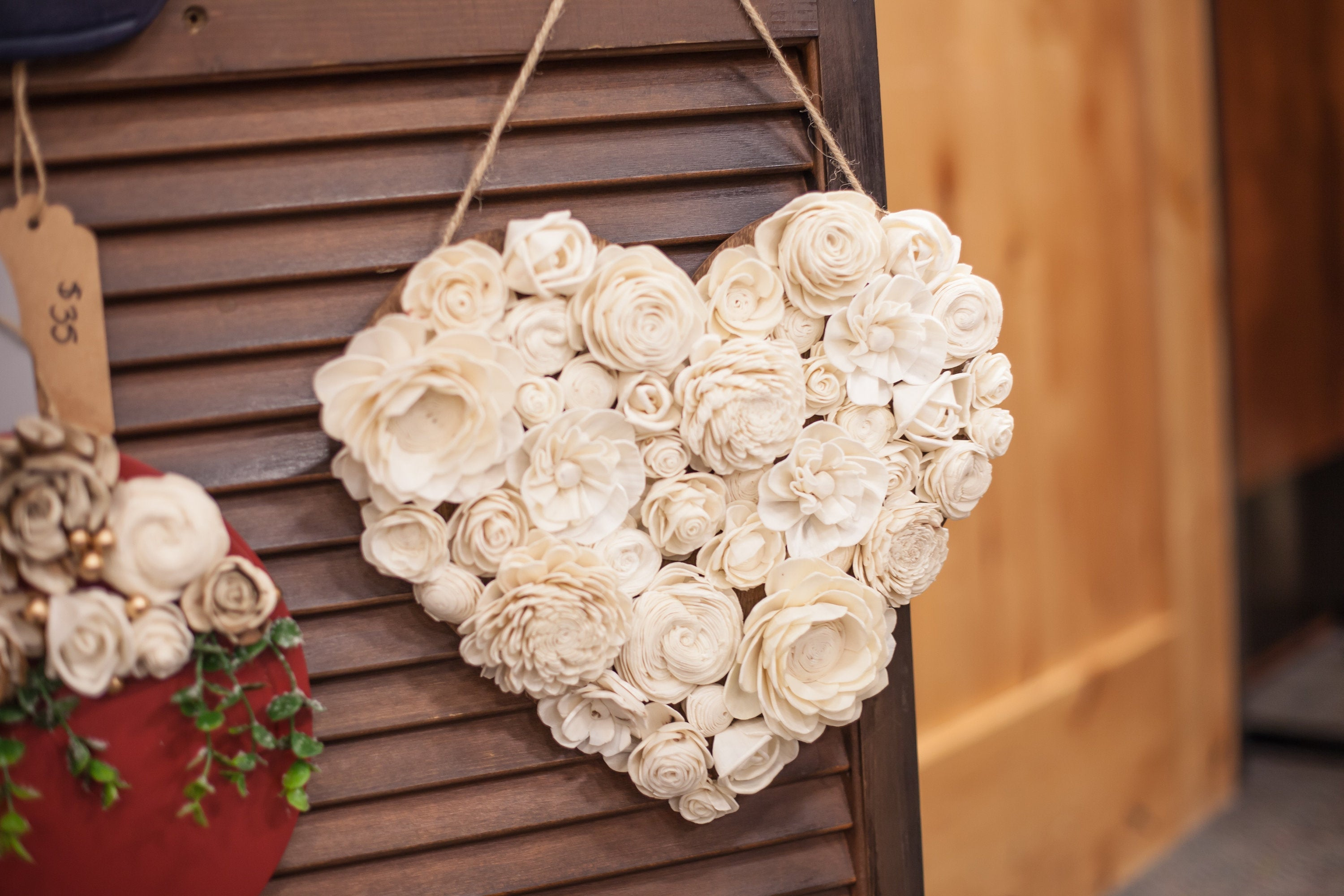 Ivory Heart Wall Hanging