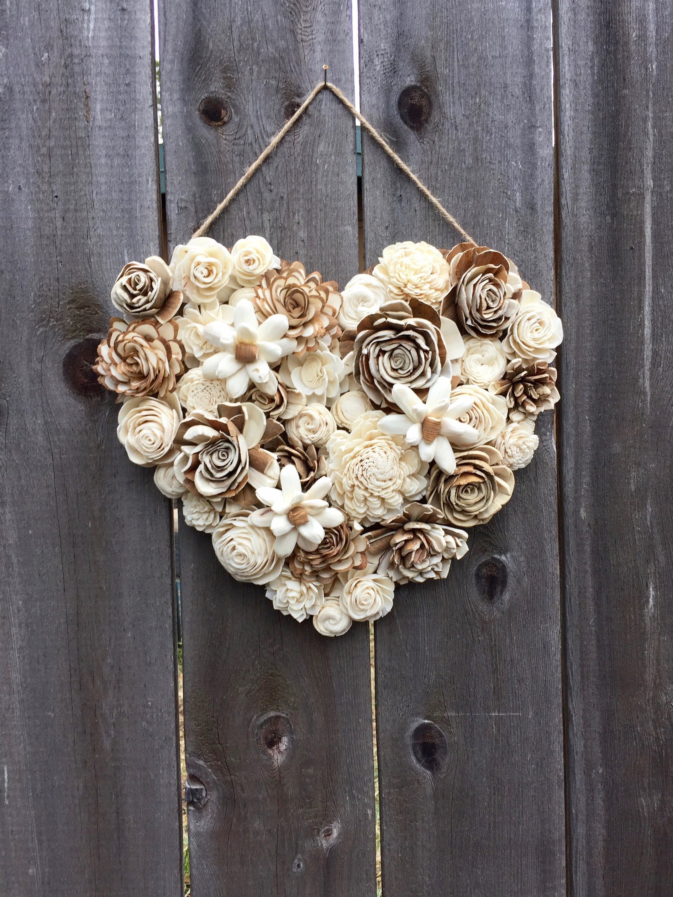 Bark & Ivory Heart Wall Hanging