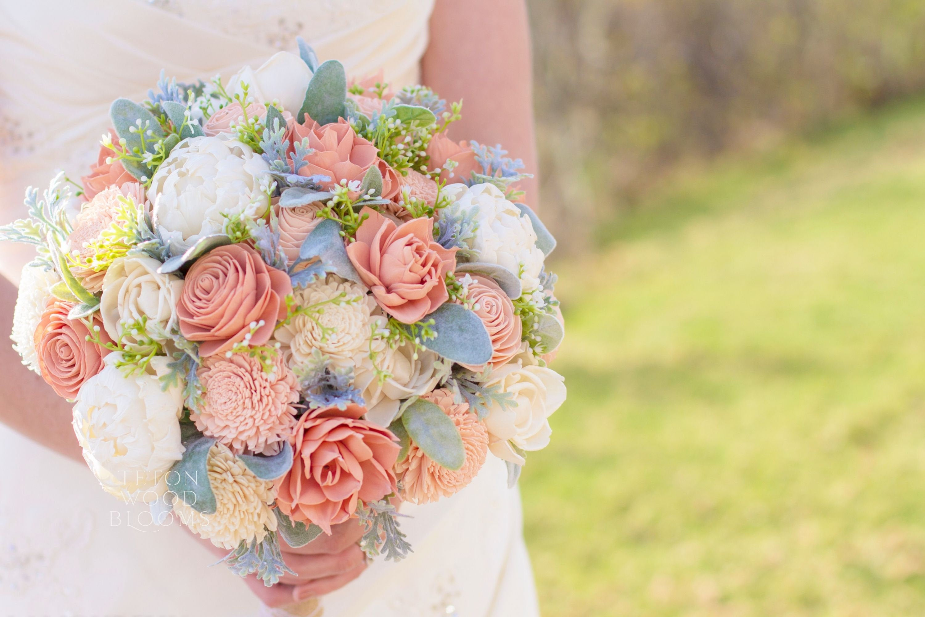 Blush, Ivory and Peony Bouquet
