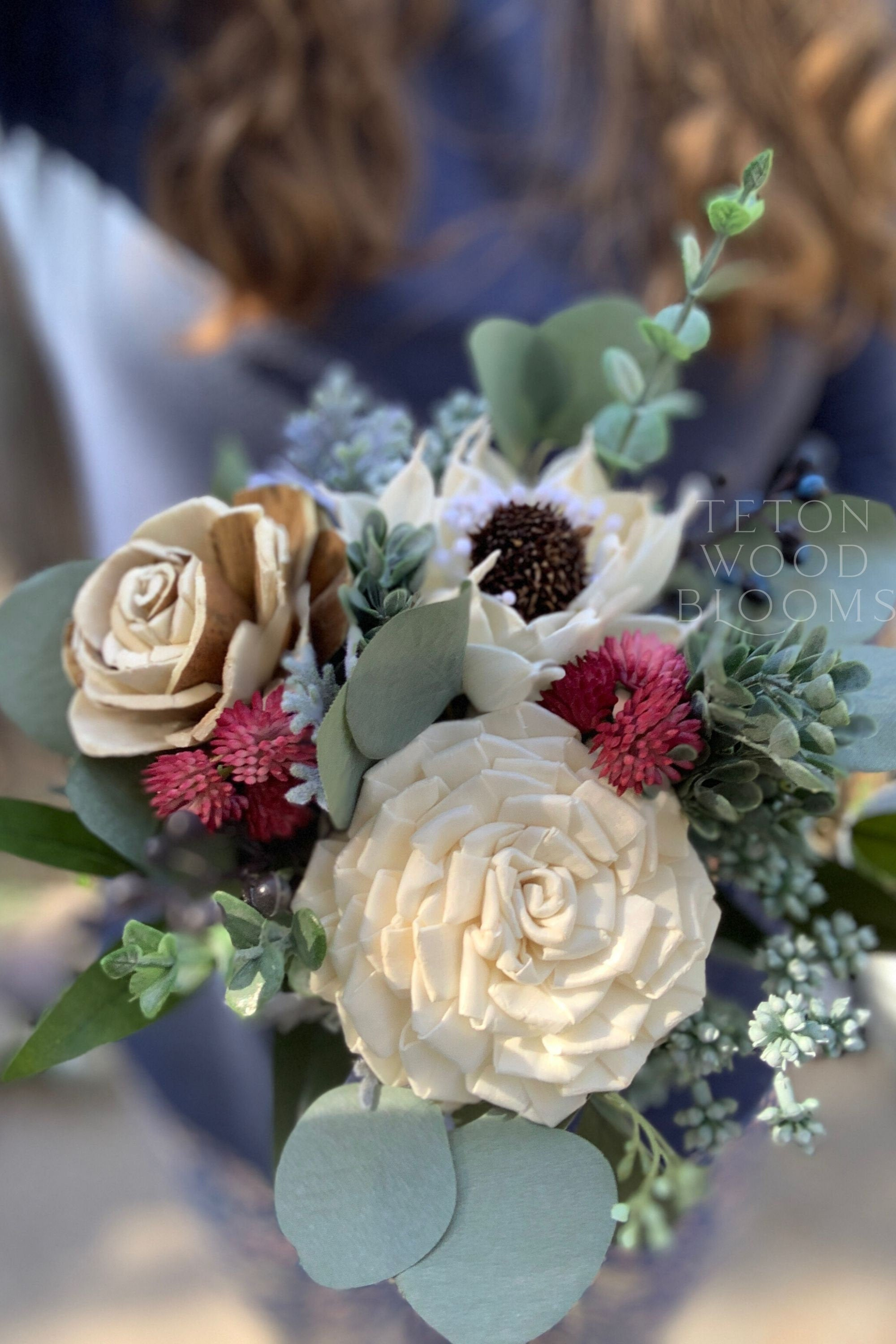 Wild Rustic Ivory and Bark Bouquet