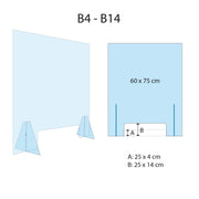 MODEL B_Self-supporting Plexiglass Protective Panel (small)