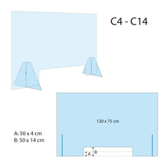 MODEL C_Self-supporting Plexiglass Protective Panel (big)