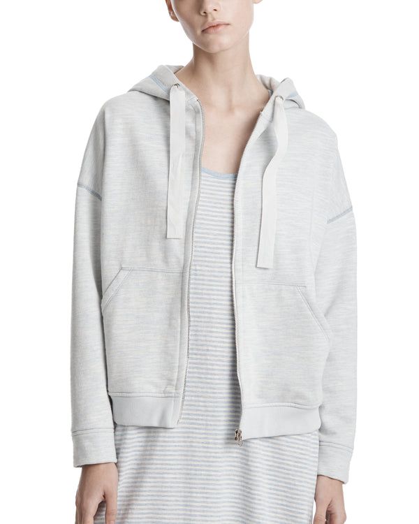 ATM Dropped Shoulder Zip Up Hoddie