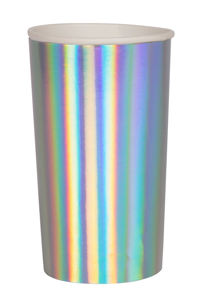 Meri Meri Silver Holographic Highball Cups